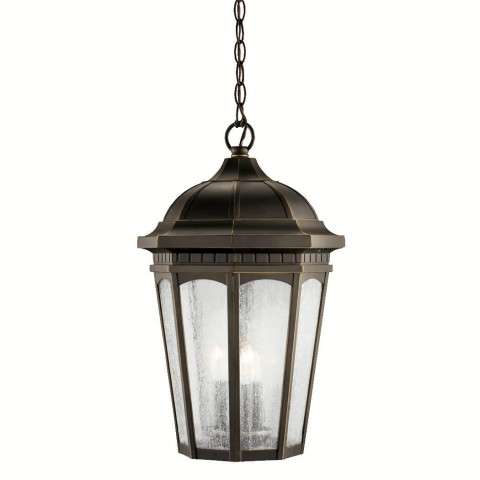 Kichler 9539RZ Outdoor Pendant 3Lt in Rubbed Bronze.