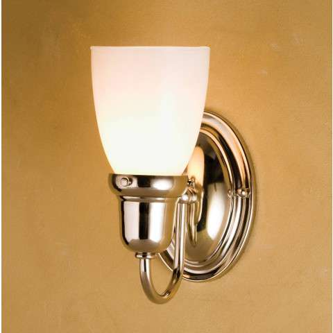 Meyda Tiffany 50683 Saratoga Goblet Wall Sconce in Nickel finish