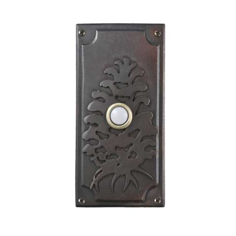 Meyda Tiffany 79966 Spruce Pine Door Bell Cover in Craftsman Brown finish