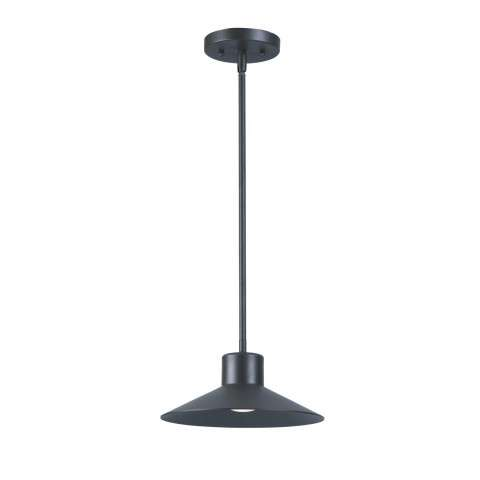 Civic LED 1-Light Outdoor Wall Pendant in Architectural Bronze