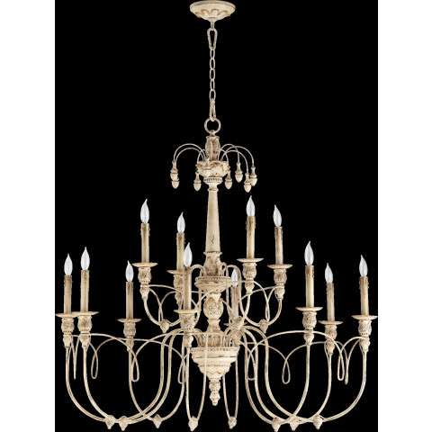 "Salento 39"" /12 Light Chandelier in Persian White"