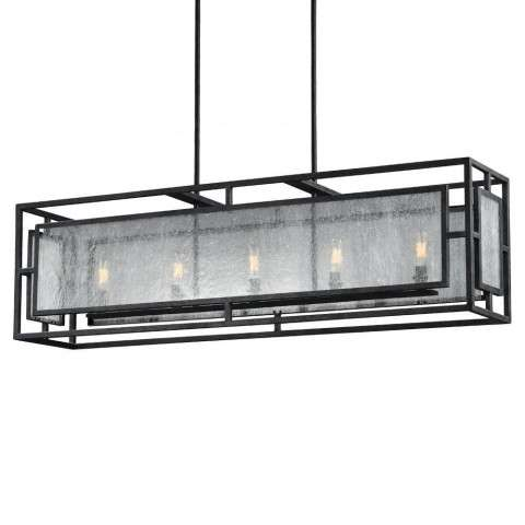 Prairielands 5 - Light Chandelier in Dark Weathered Zinc