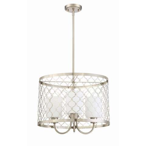 Marbella - 3 Light Pendant - Satin Nickel