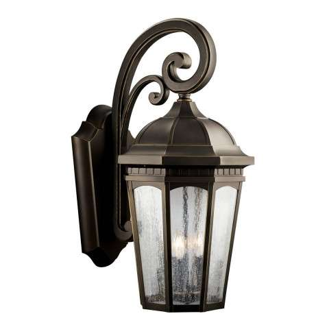 Kichler 9035RZ Outdoor Wall 3Lt in Rubbed Bronze.