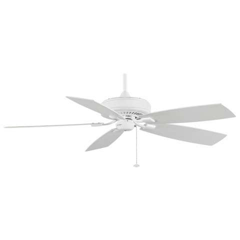 "Fanimation 60"" EdgeWood Deluxe in White"