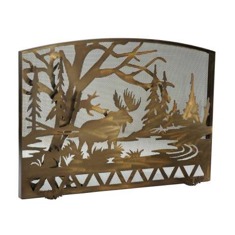 "Moose Creek Arched Fireplace Screen - 50"" Wide x 35.5"" Tall"