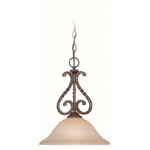Craftmade Exteriors Sutherland - English Toffee 1 Light Mini Pendant in English Toffee