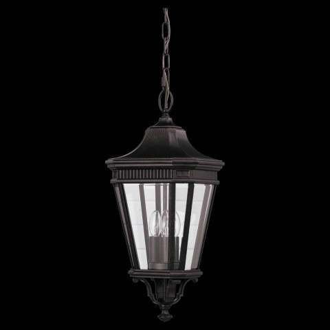 Murray Feiss OL5411GBZ Cotswold Lane Outdoor Lantern in Grecian Bronze finish with Clear beveled glass shade