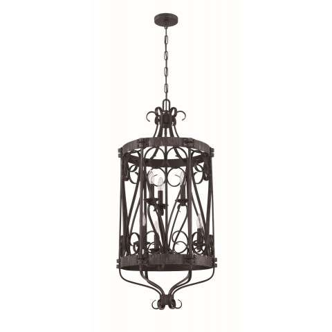 Ellsworth 6 Light Foyer in Charcoal