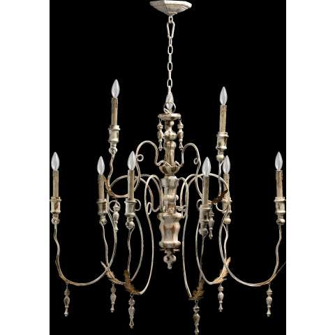 "Salento 32"" /9 Light Chandelier in Persian White"