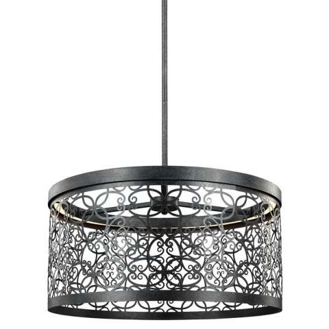 Arramore 1 - Light Outdoor Pendant in Dark Weathered Zinc