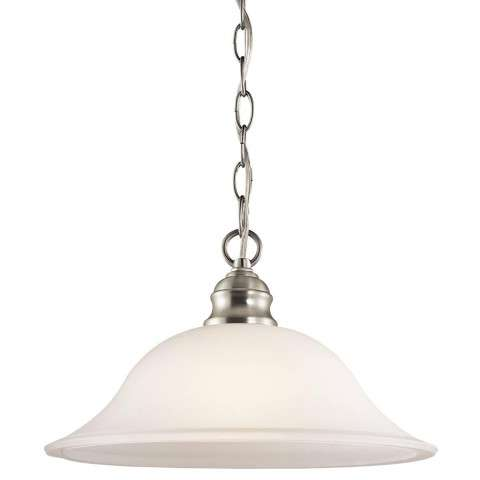Kichler 42902NI Pendant 1Lt in Brushed Nickel.