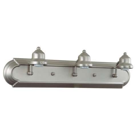 Craftmade Exteriors Arch Arm - Brush Nickel 3 Light Vanity Fixture in Brush Nickel