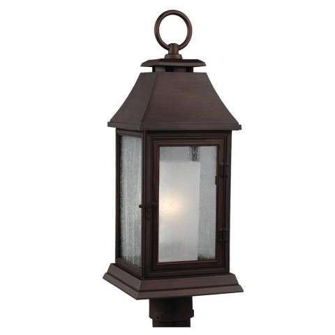 Shepherd 1 - Light Outdoor Post in Heritage Copper