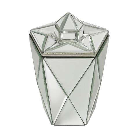 Mirrored Jewel Canister