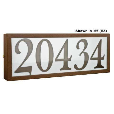 Sunset Lighting F10031-31 Large Address Light Standard 4 inch Numbers Black Vinyl with Transformer in Black Finish