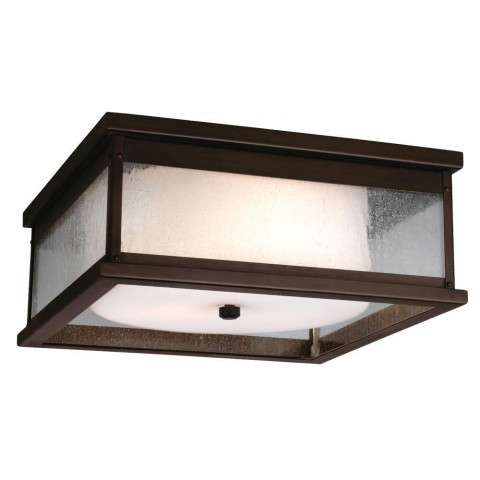 Pediment 2 - Light Outdoor Flush in Dark Aged Copper