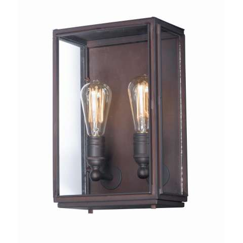 Pasadena 2-Light Outdoor Wall Lantern in Oil Rubbed Bronze