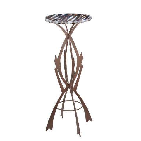 Meyda Tiffany 108010 Marina Fused Glass Table in Cafe Noir finish