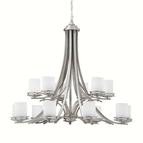 Kichler 1675NI Chandelier 15Lt in Brushed Nickel.