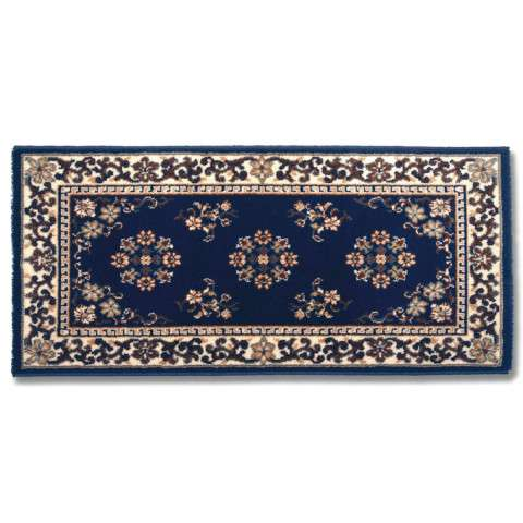 Oriental Hearth Rug - Large Rectangular - Blue