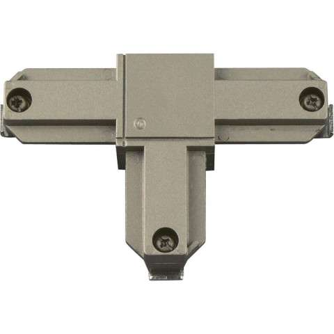 Progress P8722-8909 Inside-left polarity T connector in Brushed Nickel finish.