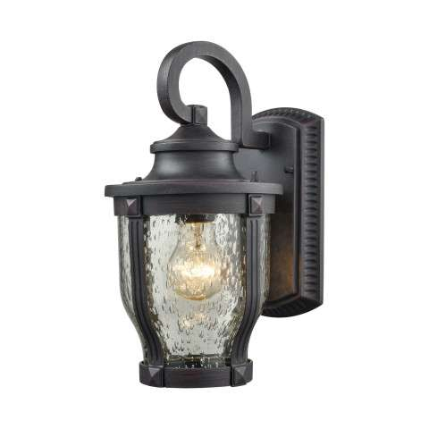 Milford 1 Light Outdoor Wall Sconce In Graphite Black