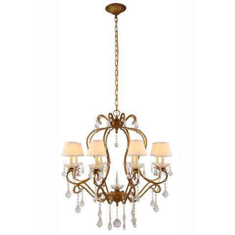 "Urban Classic - 1471 Diana Collection Chandelier D:31"" H:34"" Lt:8 Golden Iron Finish"