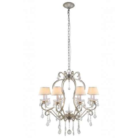"Urban Classic - 1471 Diana Collection Chandelier D:31"" H:34"" Lt:8 Vintage Silver Leaf Finish"