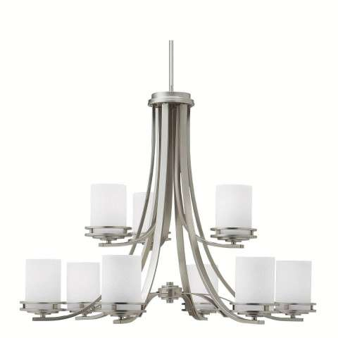 Kichler 1674NI Chandelier 9Lt in Brushed Nickel.