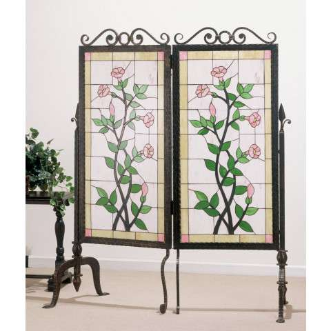 Meyda Tiffany 65254 Gerardia Glass and Metal 2 Panel Room Divider