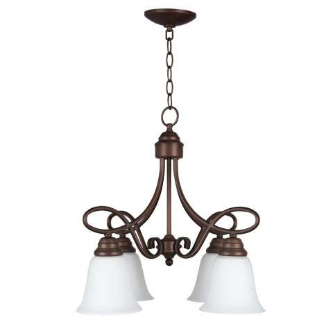 Cordova - 4 Light Chandelier - Oiled Bronze