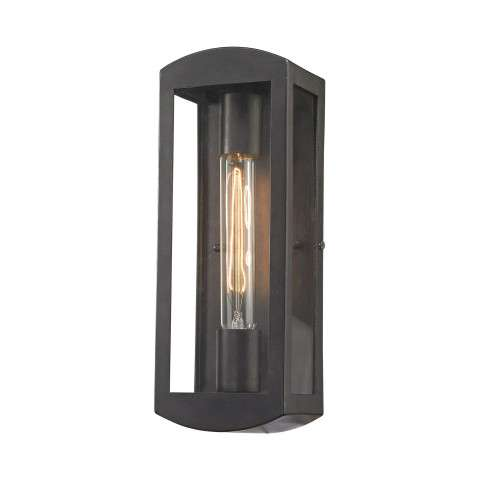 Trenton 1 Light Outdoor Wall Sconce In Blackened Bronze