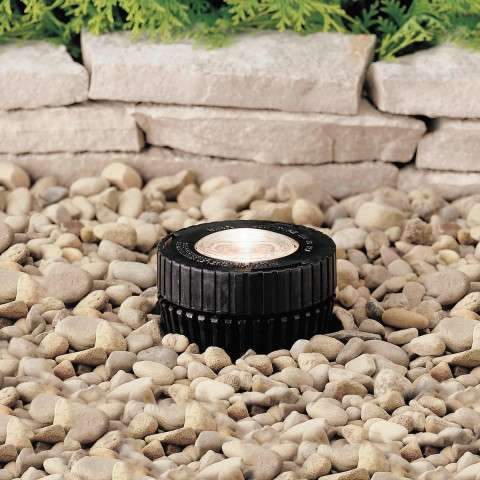 Kichler 15190BK In-Ground 1-Lt 12V in Black Material (Not Painted).