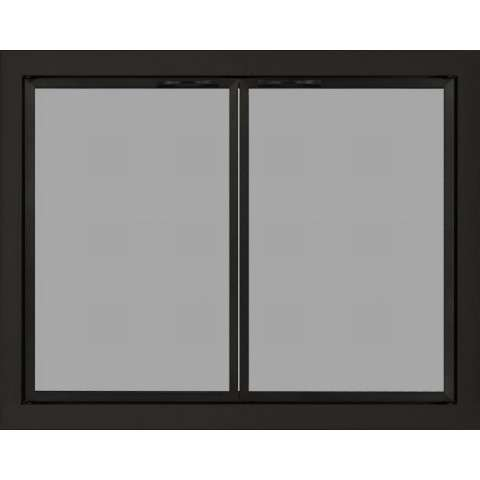 Broofkfield Mesh Panel Fireplace Door in Rustic Black