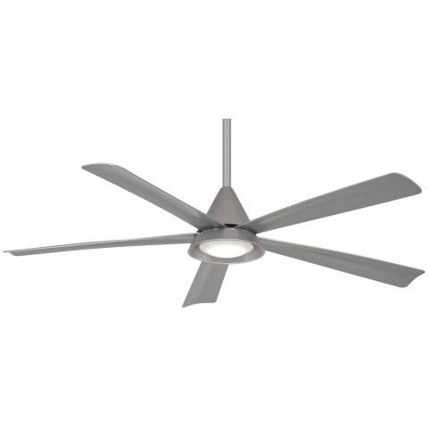 "Cone 54"" LED Ceiling Fan In Silver"