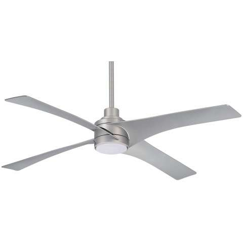 "Swept 56"" LED Ceiling Fan In Silver"