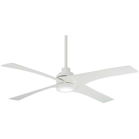 "Swept 56"" LED Ceiling Fan In Flat White"