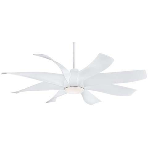 "Dream Star 60"" LED Ceiling Fan In White"