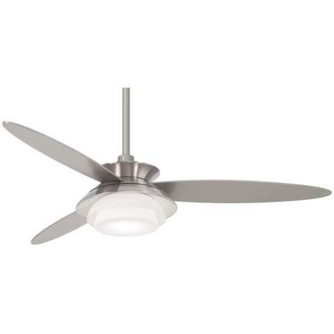"""Stack 56"""" LED Ceiling Fan In Brushed Nickel And Silver"""
