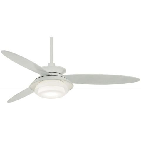 "Stack 56"" LED Ceiling Fan In White"
