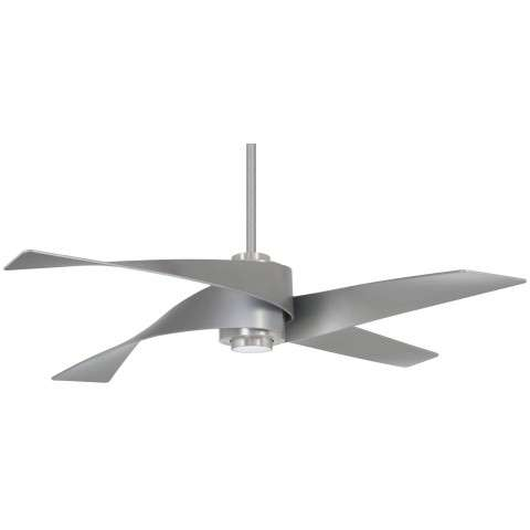 "Artemis IV 64"" LED Ceiling Fan In Brushed Nickel And Silver"