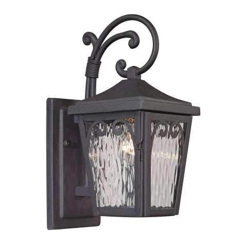Forged Manor Collection 1 light outdoor sconce in Charcoal