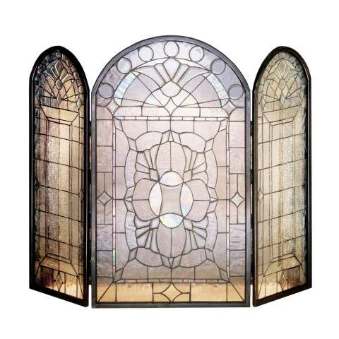 "Tiffany Clear Beveled - 40"" Wide x 34"" Tall"