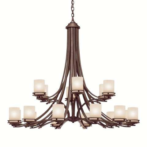 Kichler 1873OZ Chandelier 18Lt in Olde Bronze.