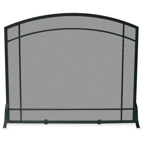 "Single Panel Black Wrought Iron Mission Screen - 39"" Wide x 33"" Tall"