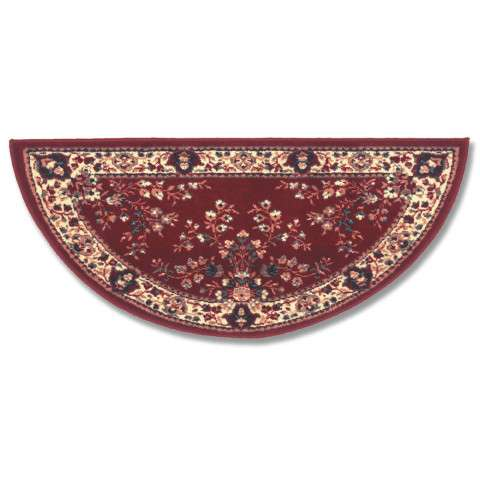 Oriental Hearth Rug - Large Half Round - Burgundy