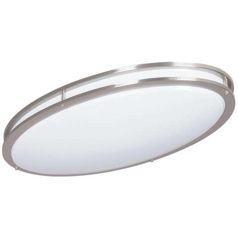Sunset Lighting F9880-80 32 inch 2-light Oval Acrylic in Bright Satin Nickel Finish