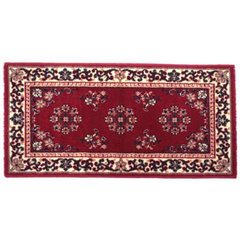 Oriental Hearth Rug - Rectangular - Burgundy