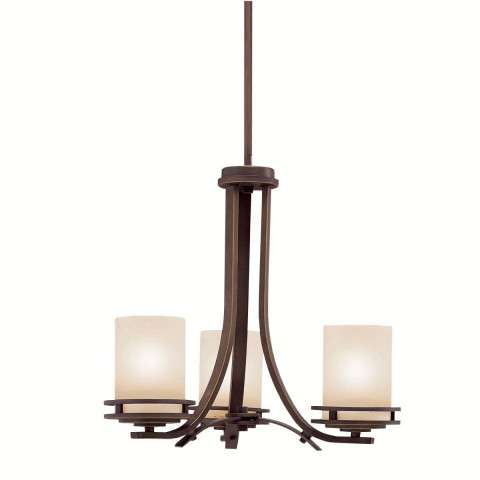 Kichler 1671OZ Chandelier 3Lt in Olde Bronze.